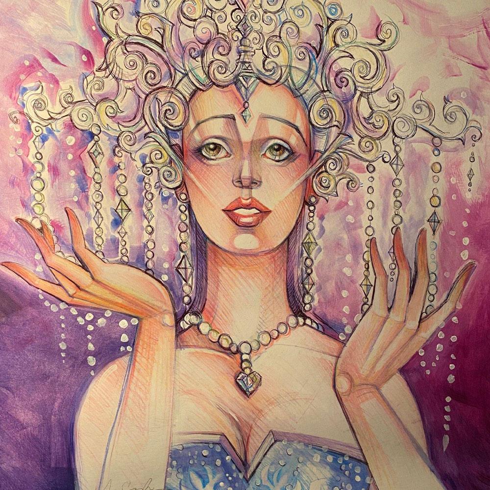 "27. Original Artwork ""Crystal Clear Dreams"" by Marcus Cerda"