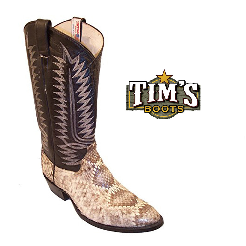 28. Diamondback Rattlesnake Western Boots